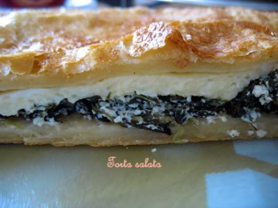 Торта салата (torta salata) - соленый торт