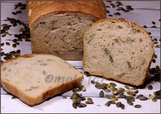 Хлеб пшеничный с семенами тыквы (в духовке)
