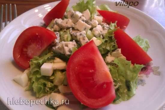 Огуречно-сырный салат Салат с голубым сыром