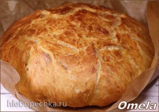 Хлеб без замеса за 13 часов (в духовке)