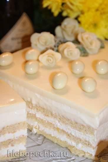Торт Опера в белом