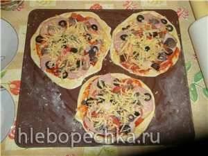 Пицца с цельнозерновой бездрожжевой основой