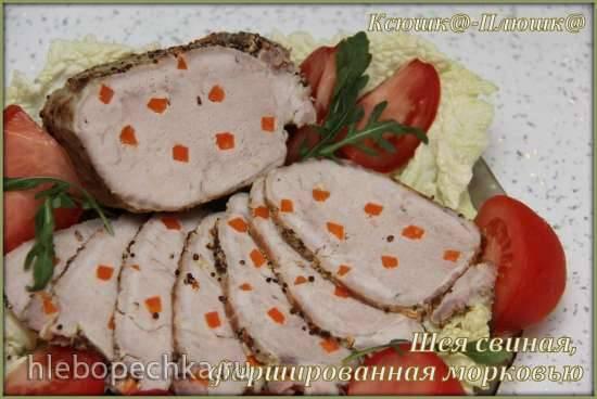 Шея свиная, фаршированная морковью (скороварка Brand 6050)