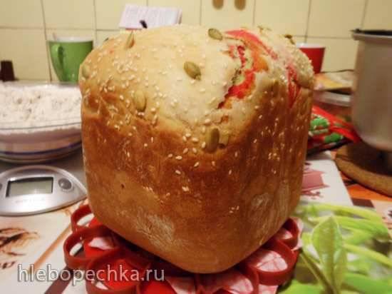 Хлеб пшеничный на овощном отваре с кориандром