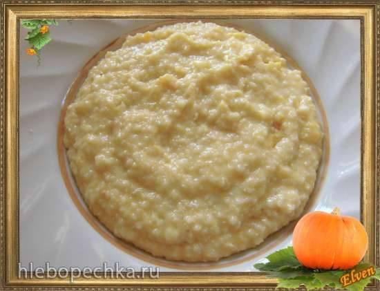 Молочная пшеничная каша с тыквой (скороварка Brand 6050)