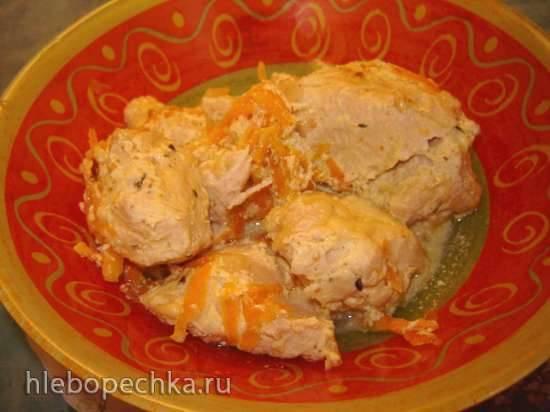 Куриное филе в сметанном соусе в мультиварке Куриное филе в сметанном соусе в мультиварке
