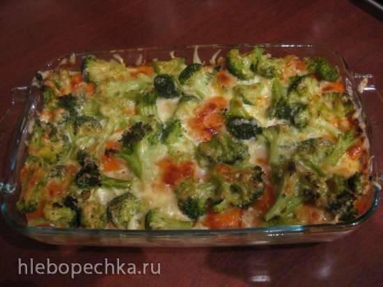 Conchiglioni с лососем и брокколи