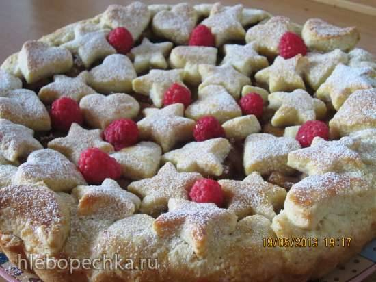 Яблочно-малиновый пирог