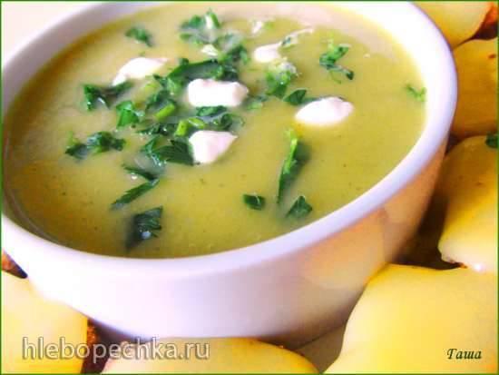 Тыквенный суп-пюре со щавелем