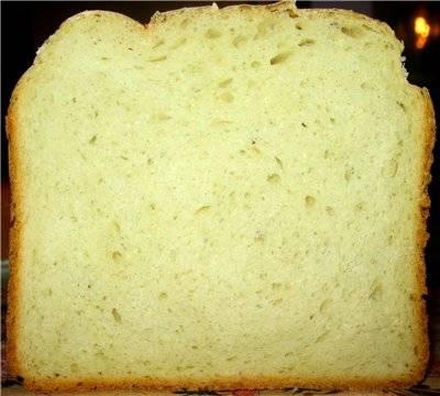 Пшеничный хлеб со свежим виноградом (хлебопечка)