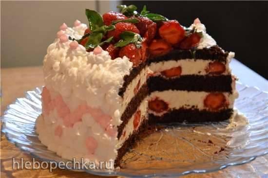 Торт-суфле шоколадный (постный, вегетарианский)