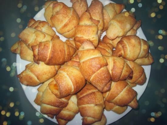 Печенье-рогалики из творожного теста