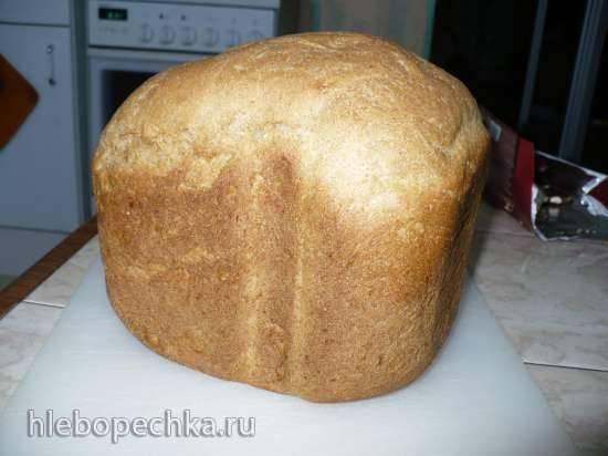 Быстрый пшенично-ржаной хлеб на ряженке Быстрый пшенично-ржаной хлеб на ряженке