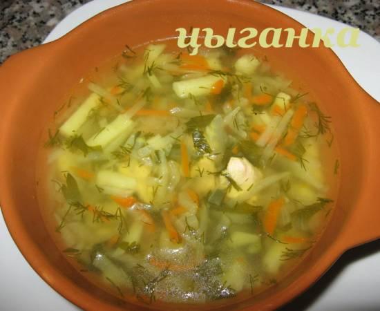 Суп с кольрaби в мультиварке
