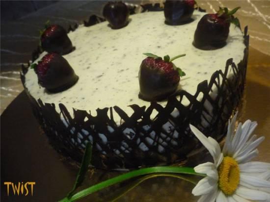 Торт клубничный Летнее настроение