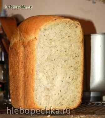 Хлеб с ароматными травами в хлебопечке