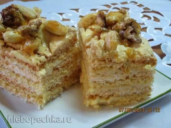 Торт вафельный с безе