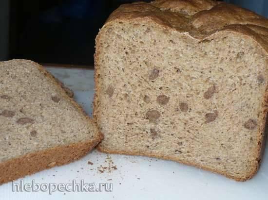 """Хлеб с """"конопушками"""" (Быстрый пшенично-ржаной хлеб на ряженке с хрустящими отрубями)"""