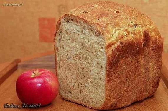 Пшенично-цельнозерновой хлеб на кефире с мёдом в сотах, травами и рисовой лапшой