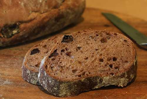 Хлеб с грецкими орехами и сухофруктами (духовка)