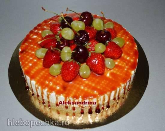 Торт Сан-Суси (Sanssouci torte) немецкий кофейный (без выпечки)