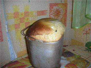 Хлеб яичный сладкий в хлебопечке