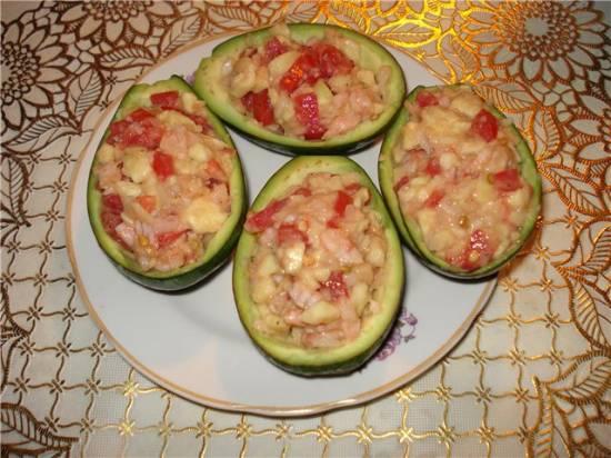 Закуска Фаршированные авокадо