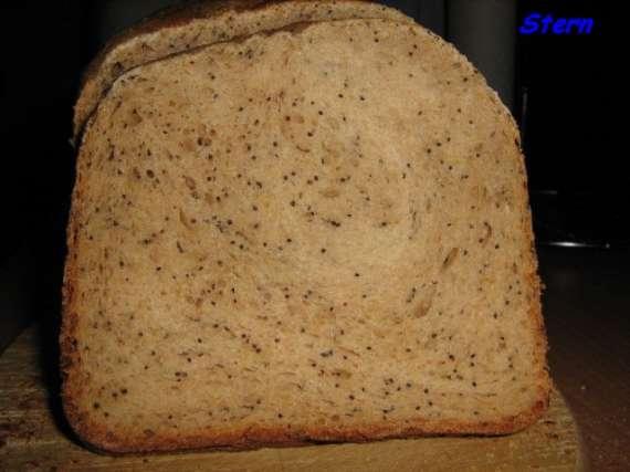 Хлеб 100% цельнозерновой сдобный маково-апельсиновый