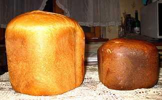 Пшеничный и ржаной хлеб Настроение в хлебопечке