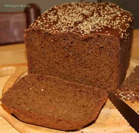 Хлеб черный ржаной в хлебопечке