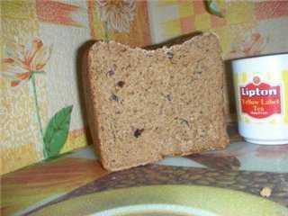 Хлеб ржаной заварной на кефире (хлебопечка)