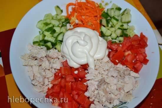 Салат овощной остренький
