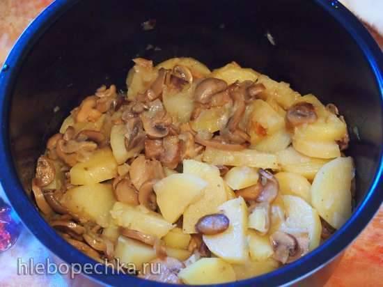 Картошка тушёная с грибами