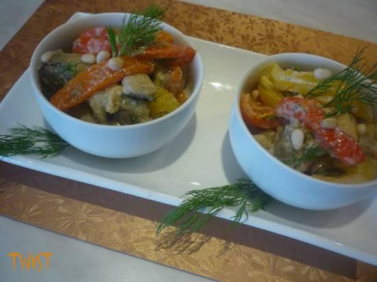 Салат из запеченных овощей в средиземноморском стиле