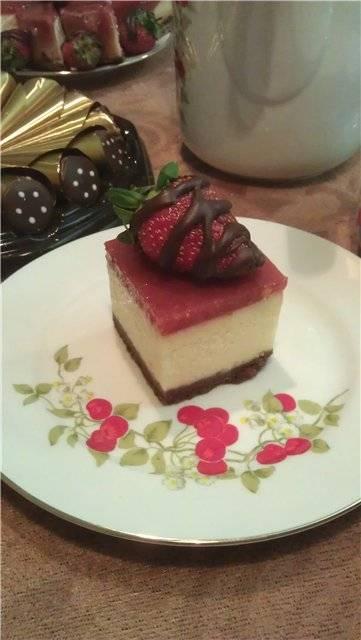 Чизкейк шоколадно-ягодный