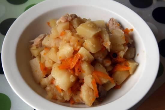 Свинина с картофелем, запечённая в хересе