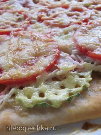Пицца крабовая с кабачками