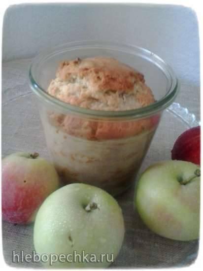 Пироги в стакане. Яблочный пирог в стакане.