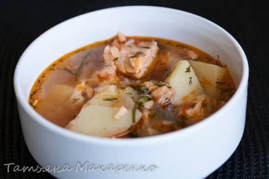 Суп рыбный в пароварке