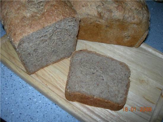 Хлеб из диспергированного зерна на закваске.
