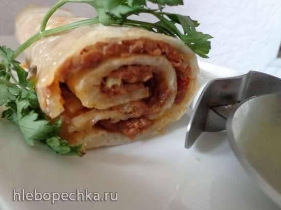 Турецкая пицца (Lahmacum)
