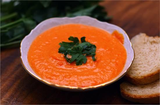 Суп сырно-морковный