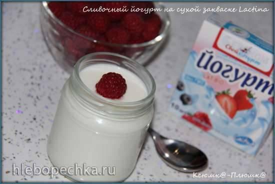 Сливочный йогурт на сухой закваске Lactina сухим способом (мультиварка-скороварка Brand 6051)