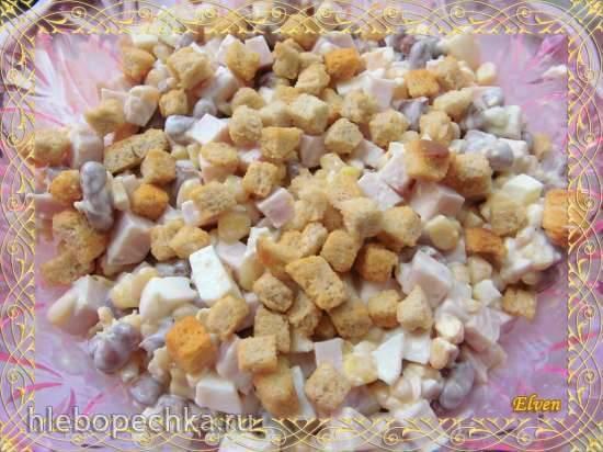 Салат с фасолью и кукурузой За 5 минут