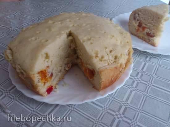 Пирог с вишней, яблоком и курагой  (Panasonic SR-TMH 10)