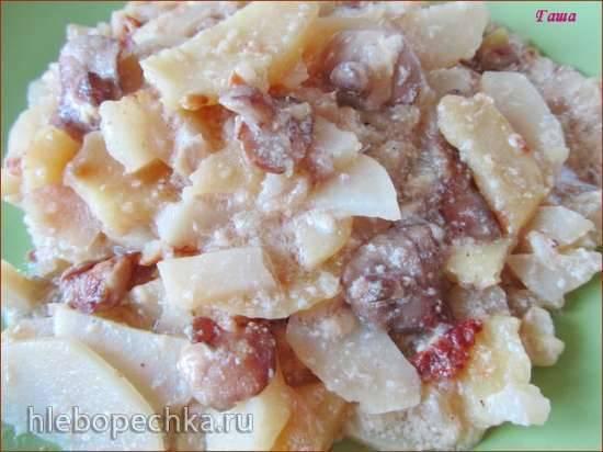 Картофель с маслятами а-ля Жульен