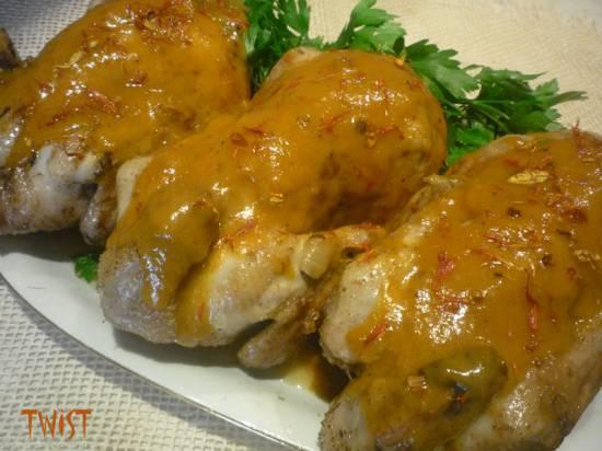 Цыплята с шафранным соусом (мультиварка-скороварка Brand 6051)