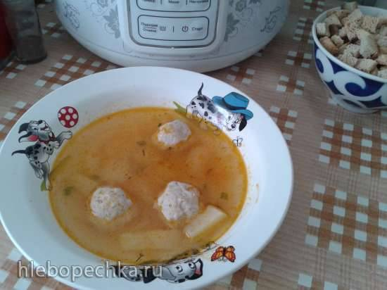 Картофельный суп с фрикадельками в 0508D floris