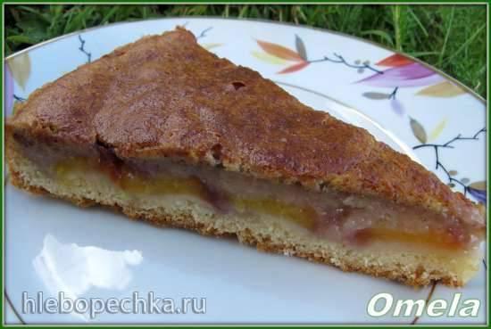 Пирог с банановой заливкой (без яиц)