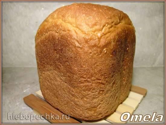 Пшеничный хлеб с кунжутом и яблоком в хлебопечке Scarlett-400